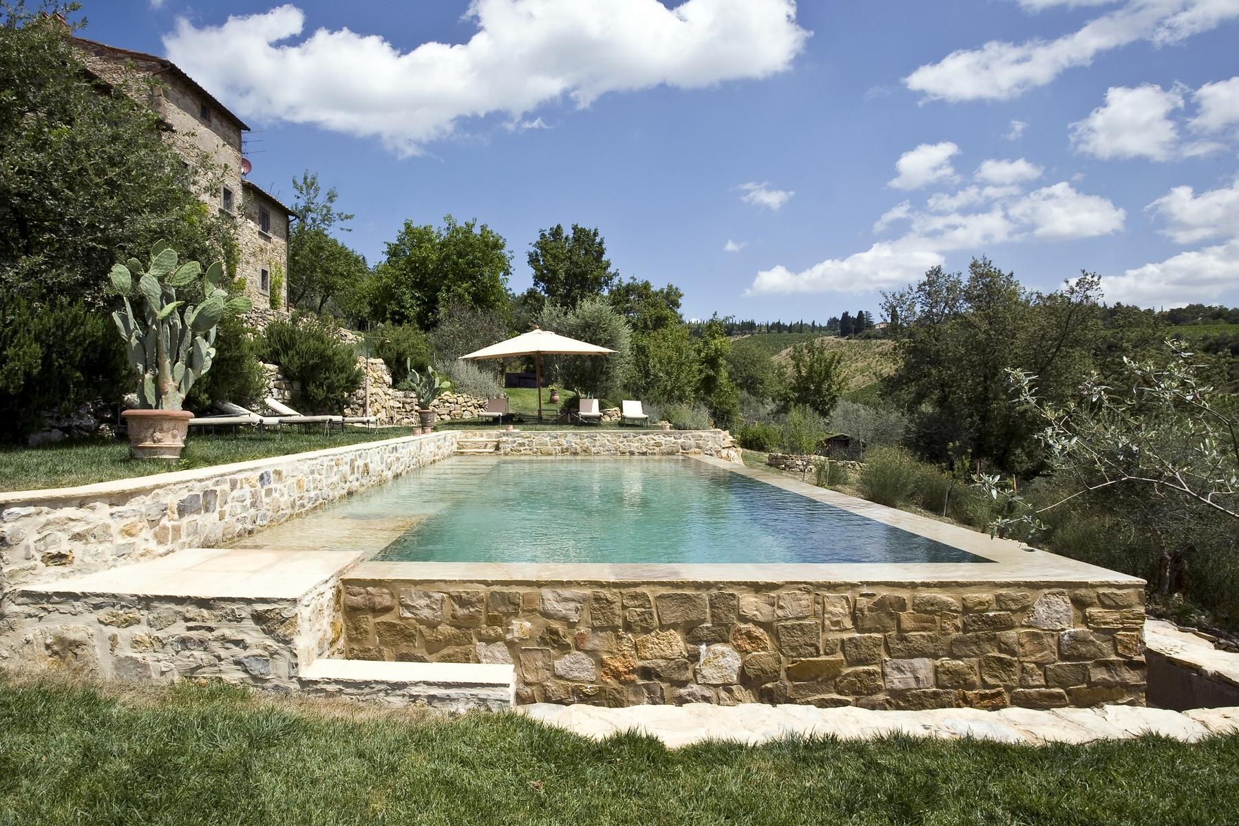 坐落于Chianti地区的绝美的农舍,且享有壮丽的景色和游泳池 - 1
