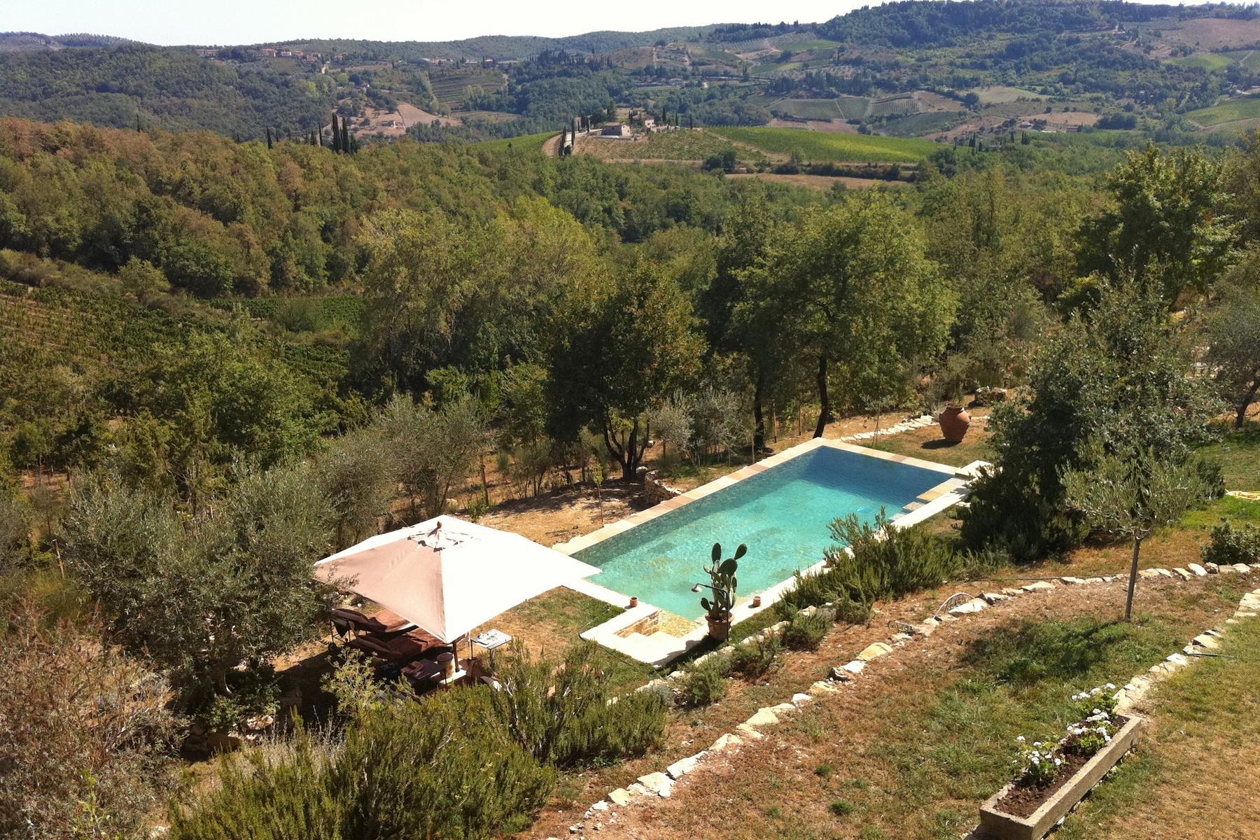 坐落于Chianti地区的绝美的农舍,且享有壮丽的景色和游泳池 - 4