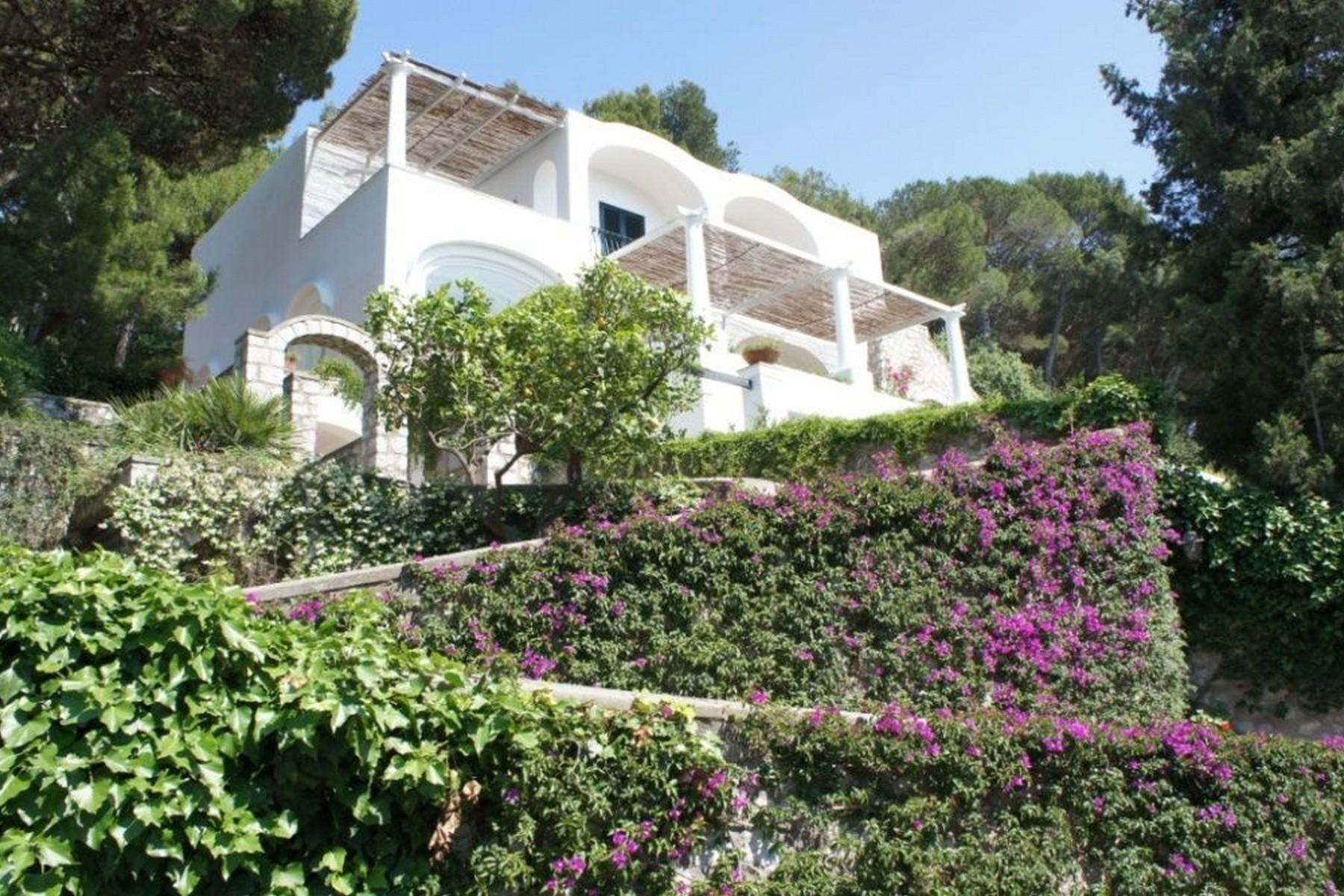 Вилла с панорамными террасами и бассейном в центре легендарного острова Капри, Италия - 10