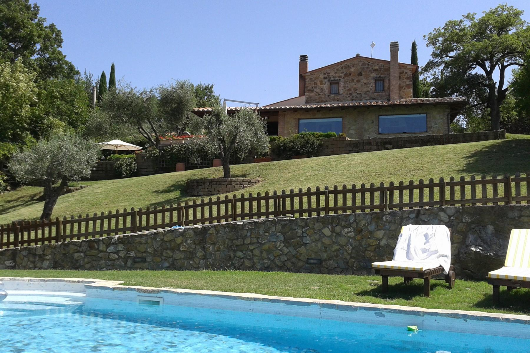 Farmhouse with outbuildingand pool with beautiful view over Saturnia and the surroundings - 7