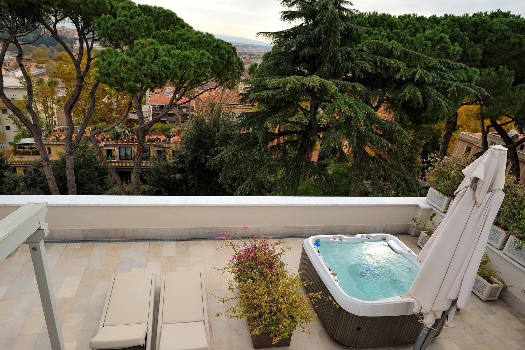 绿色罗马市中心内富有格调和风格的别墅 - 6