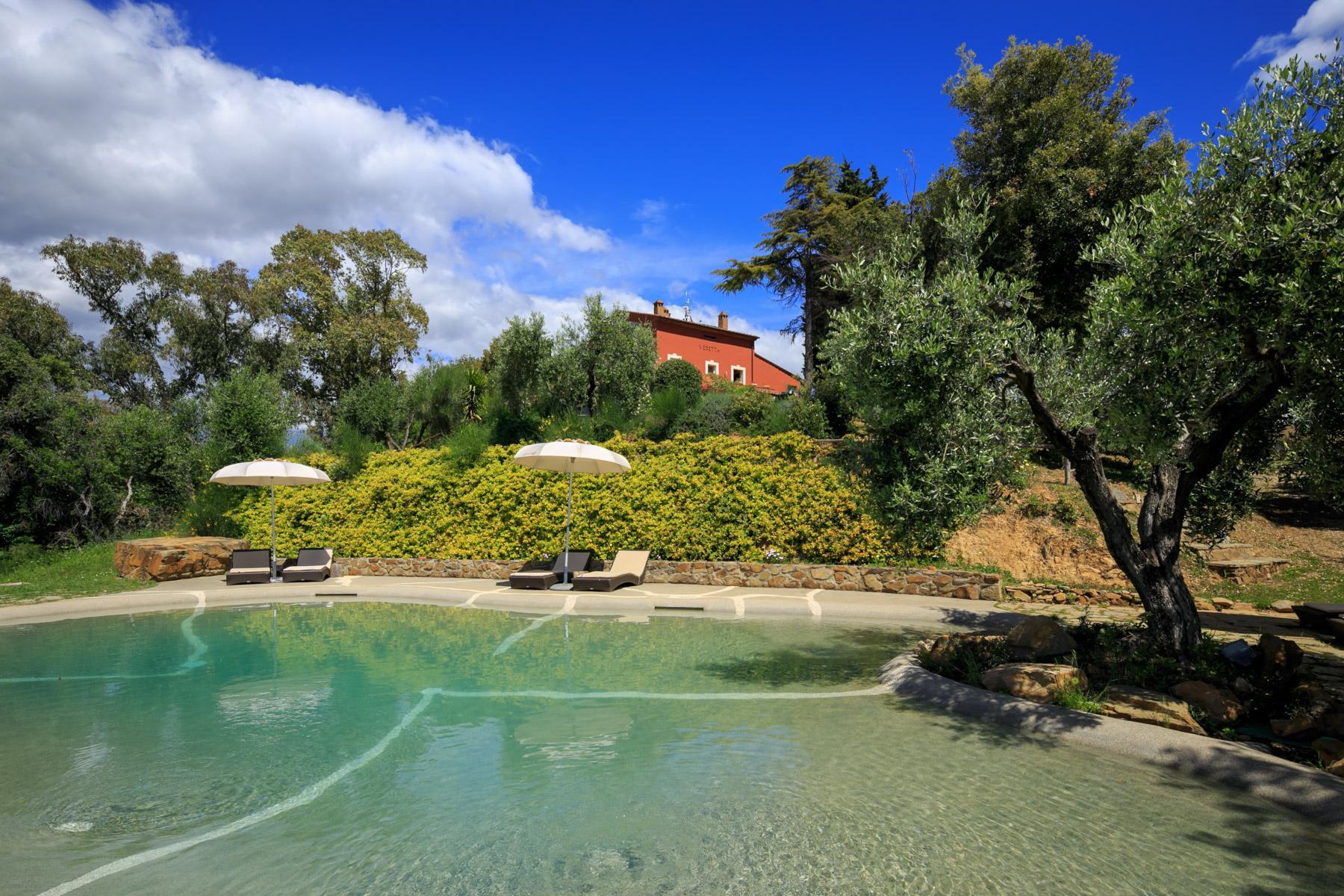 Villa et domaine avec piscine surplombant le Golfe de Scarlino - 2