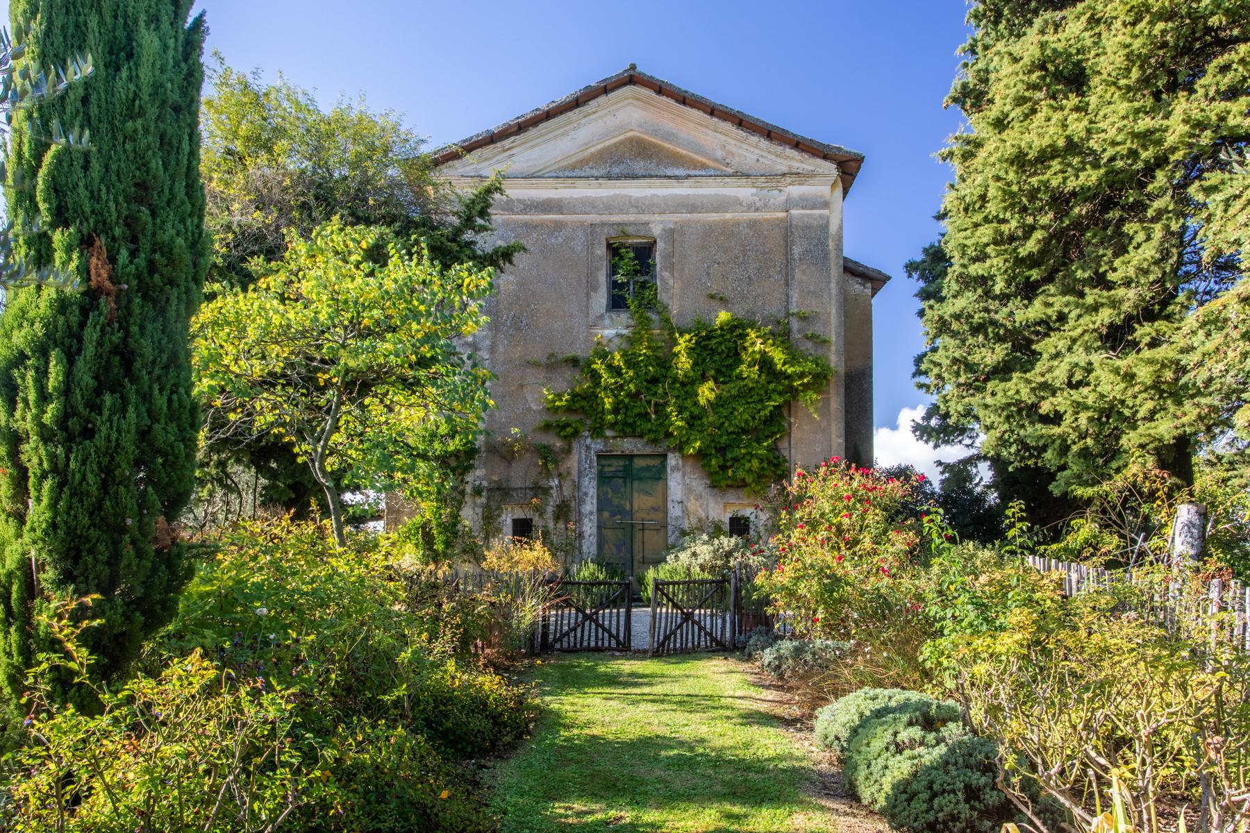 中世纪村庄Oliveto山顶上的雄壮宫殿 - 24