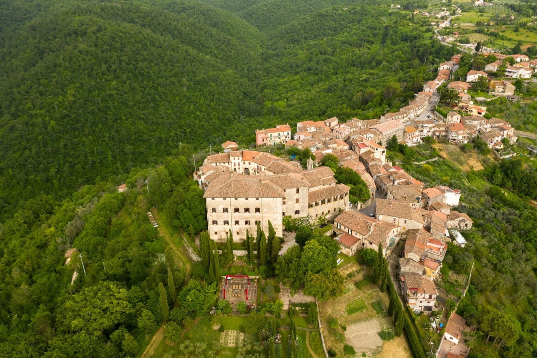 中世纪村庄Oliveto山顶上的雄壮宫殿 - 1