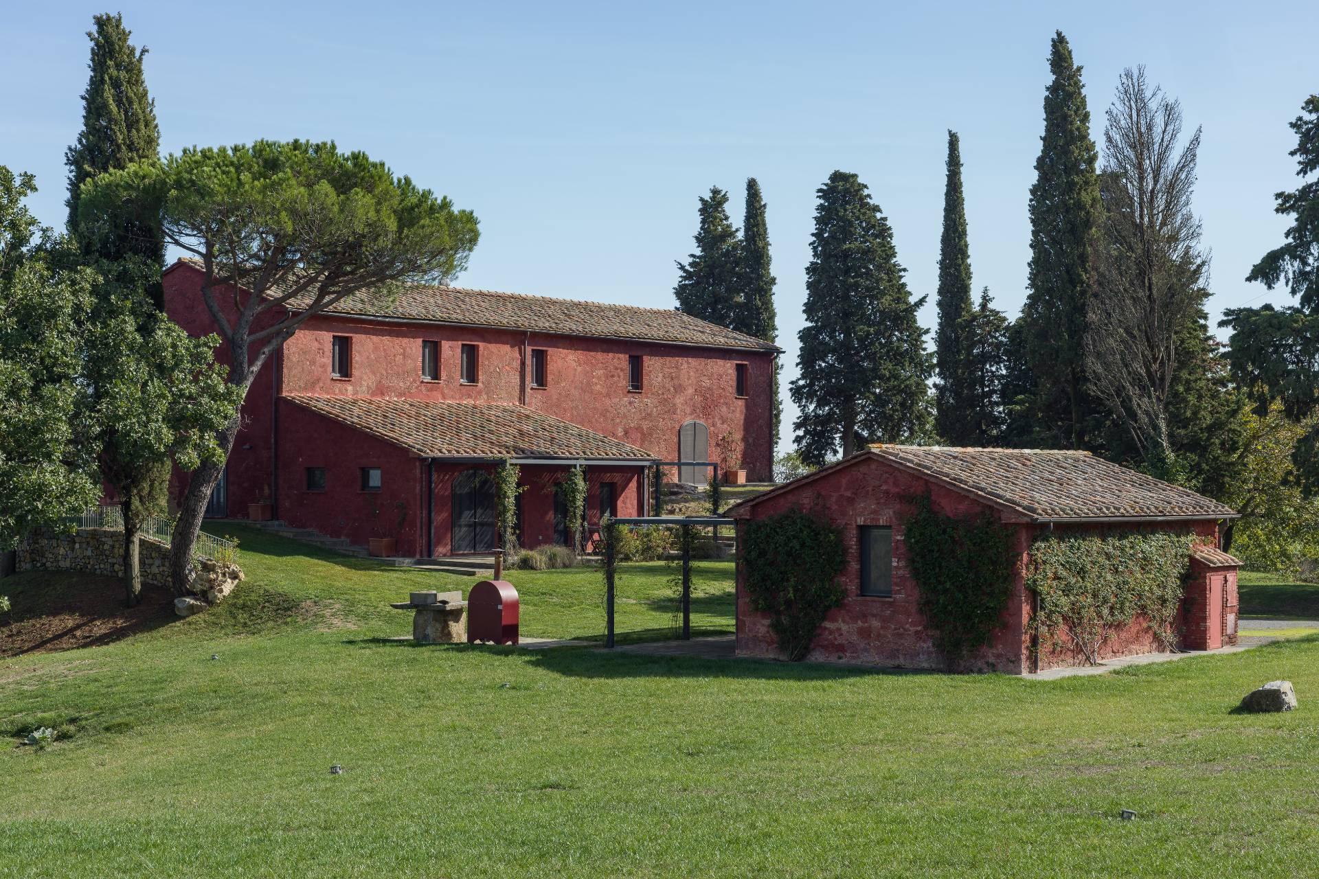 Herrliches Bauernhaus mit Panorama-Blick zwischen Val D'Orcia und Val di Chiana - 2