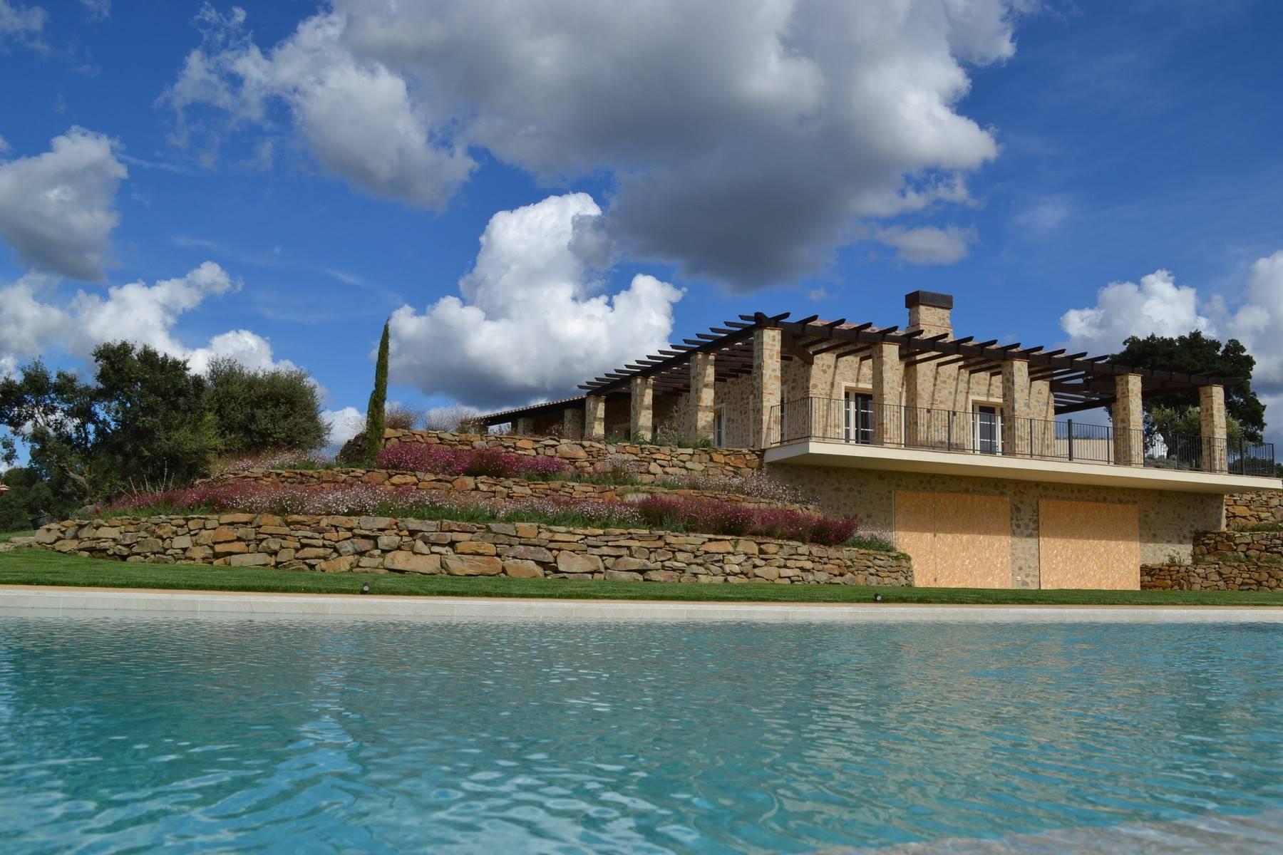 眺望大海的带游泳池的新建农舍 - 4