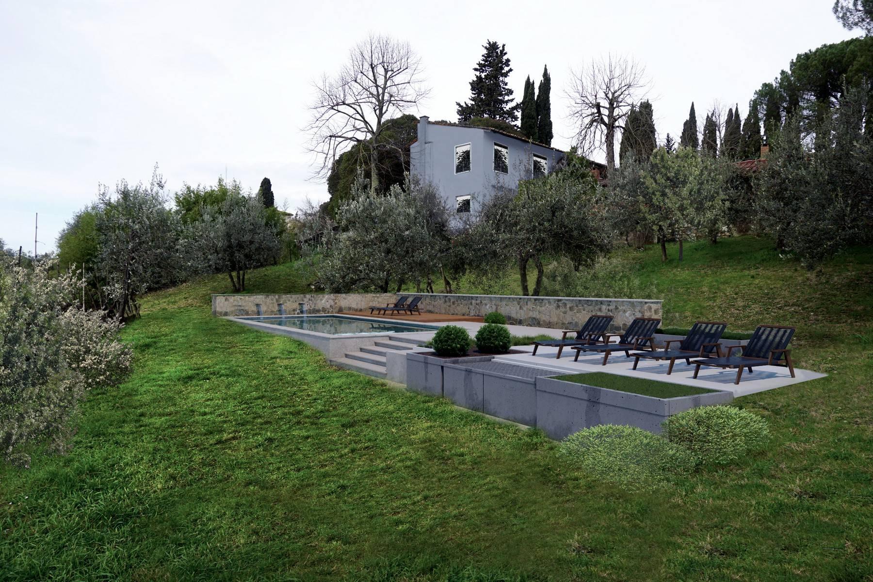 Дивная старинная ферма на тосканских холмах в Кьянти, Италия - 5