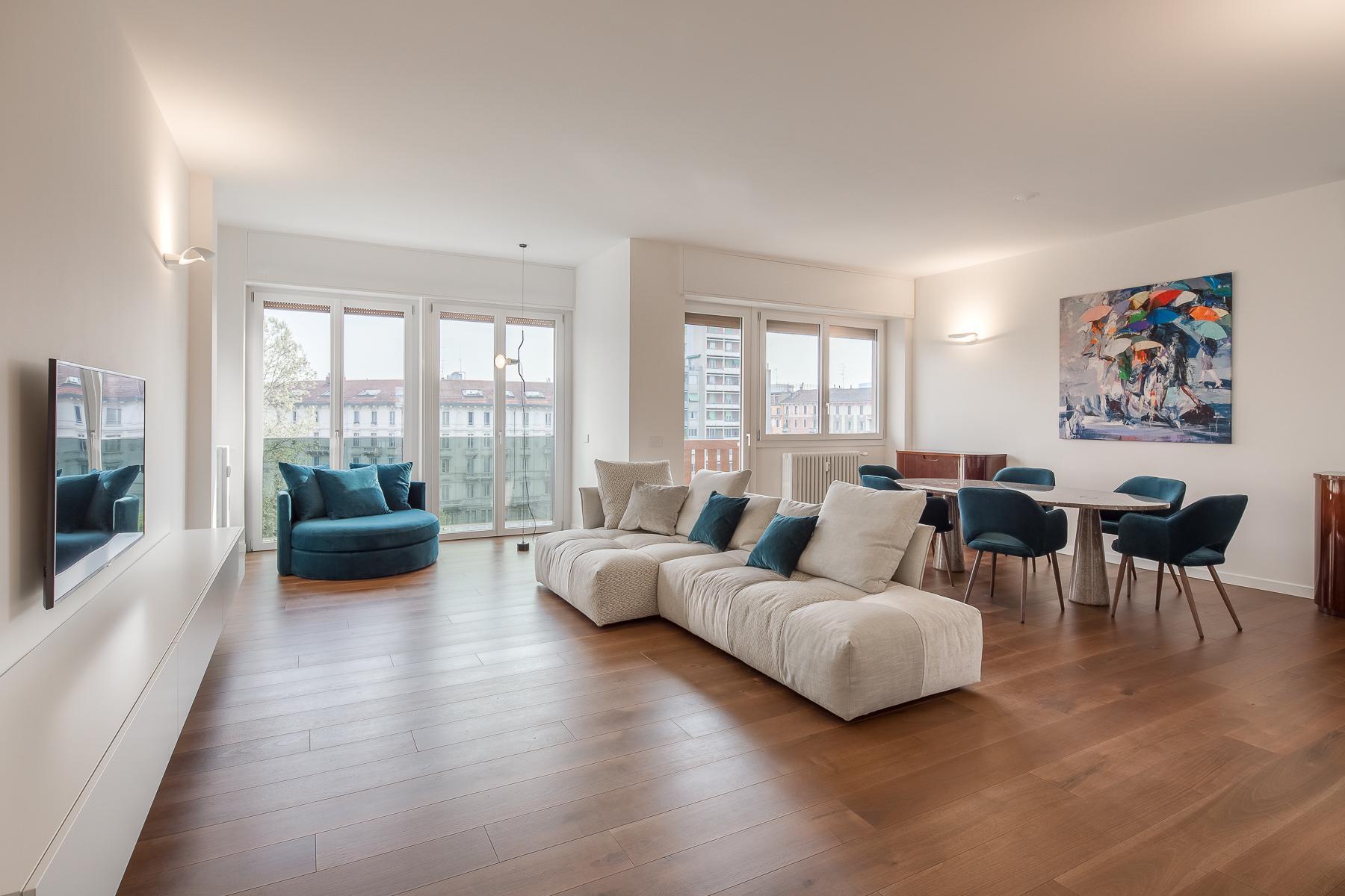 Splendide et grand trois pièces meublé au sixième étage - 1