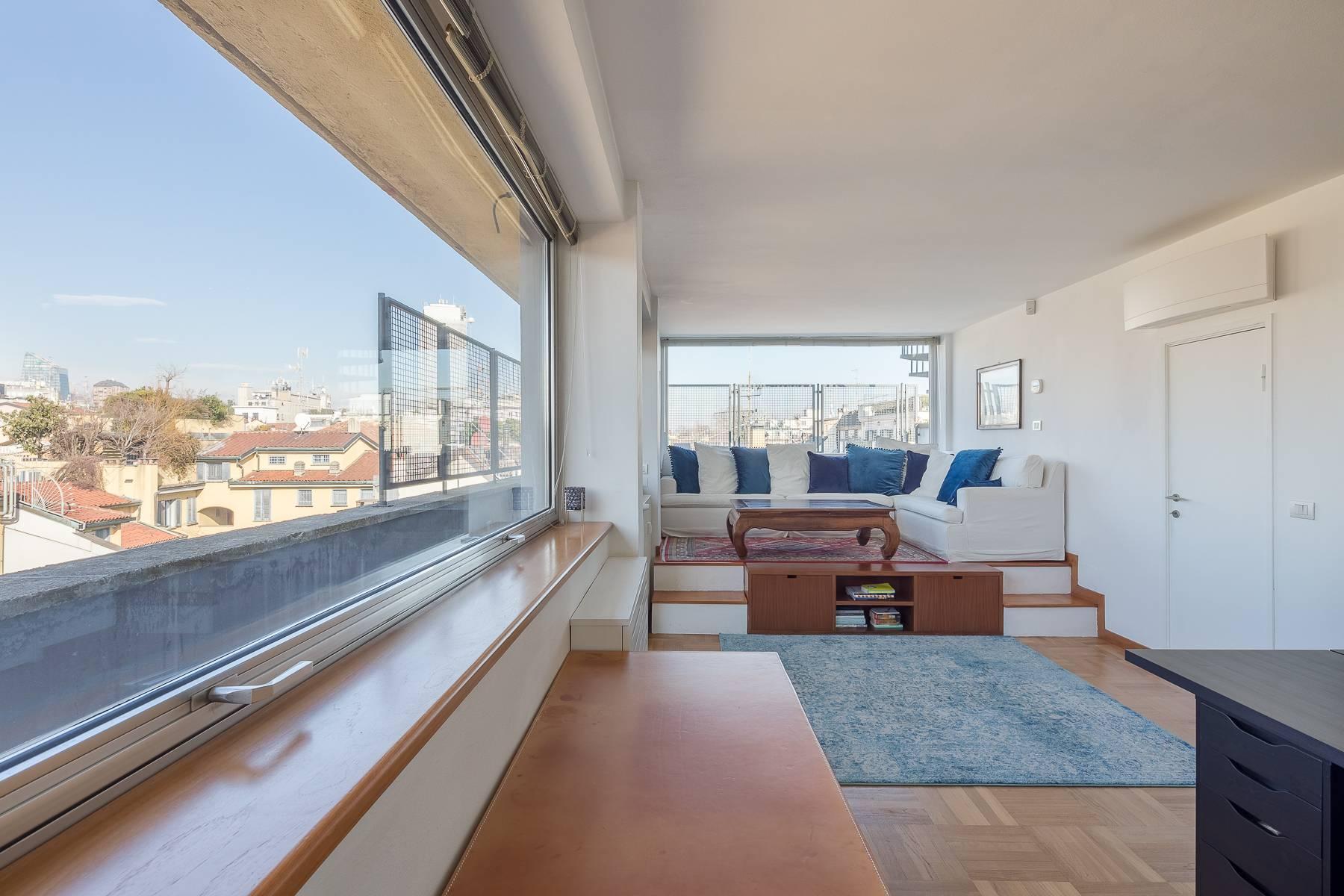 时尚区带露台的全景顶层公寓 - 7