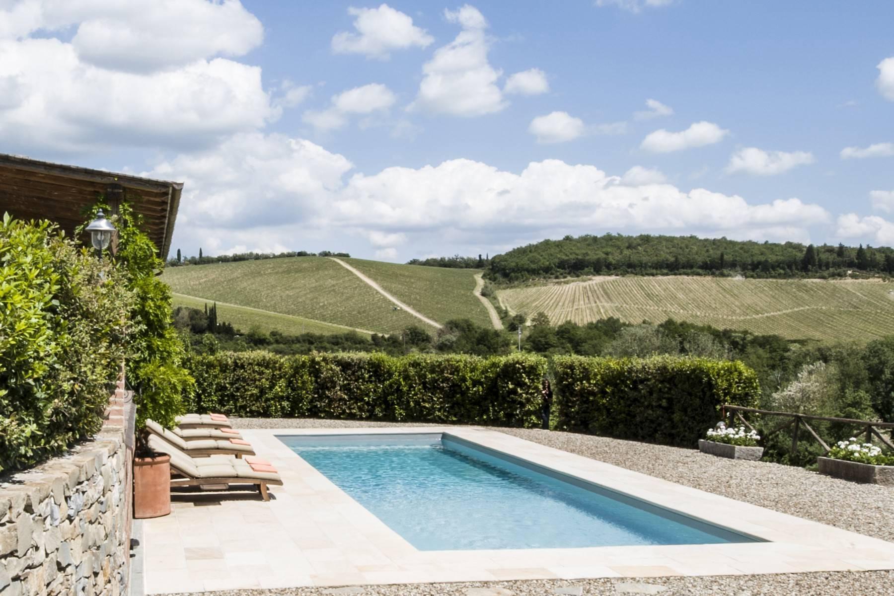 Idyllische toskanische Villa im Chianti mit Pool - 7