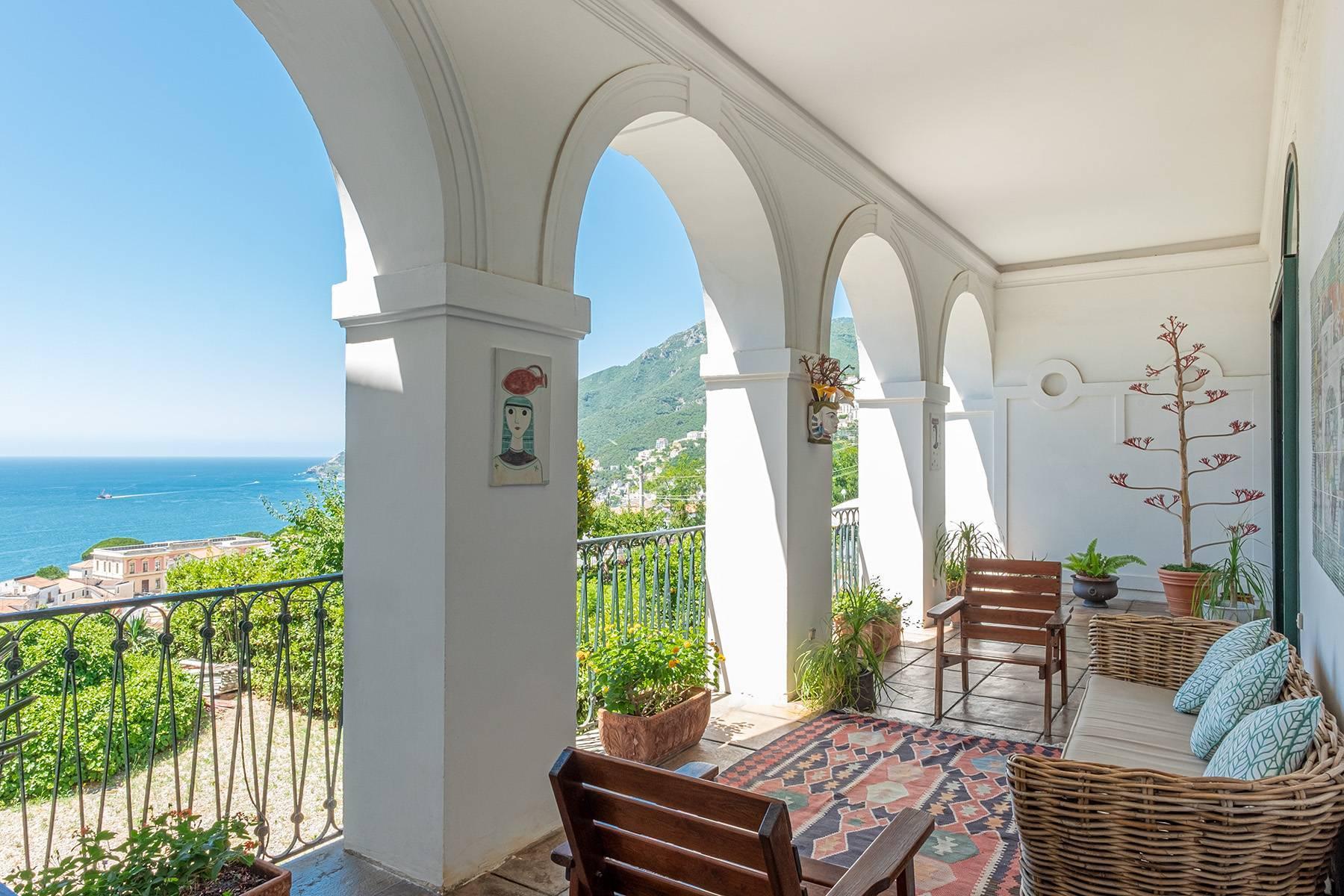 Historisches Anwesen im Grünen mit atemberaubendem Blick auf den Golf von Vietri - 13