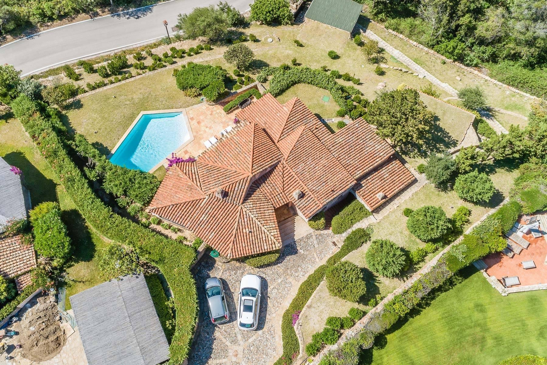 Panoramica villa indipendente con vista mare nella collina del Pevero Golf - 4