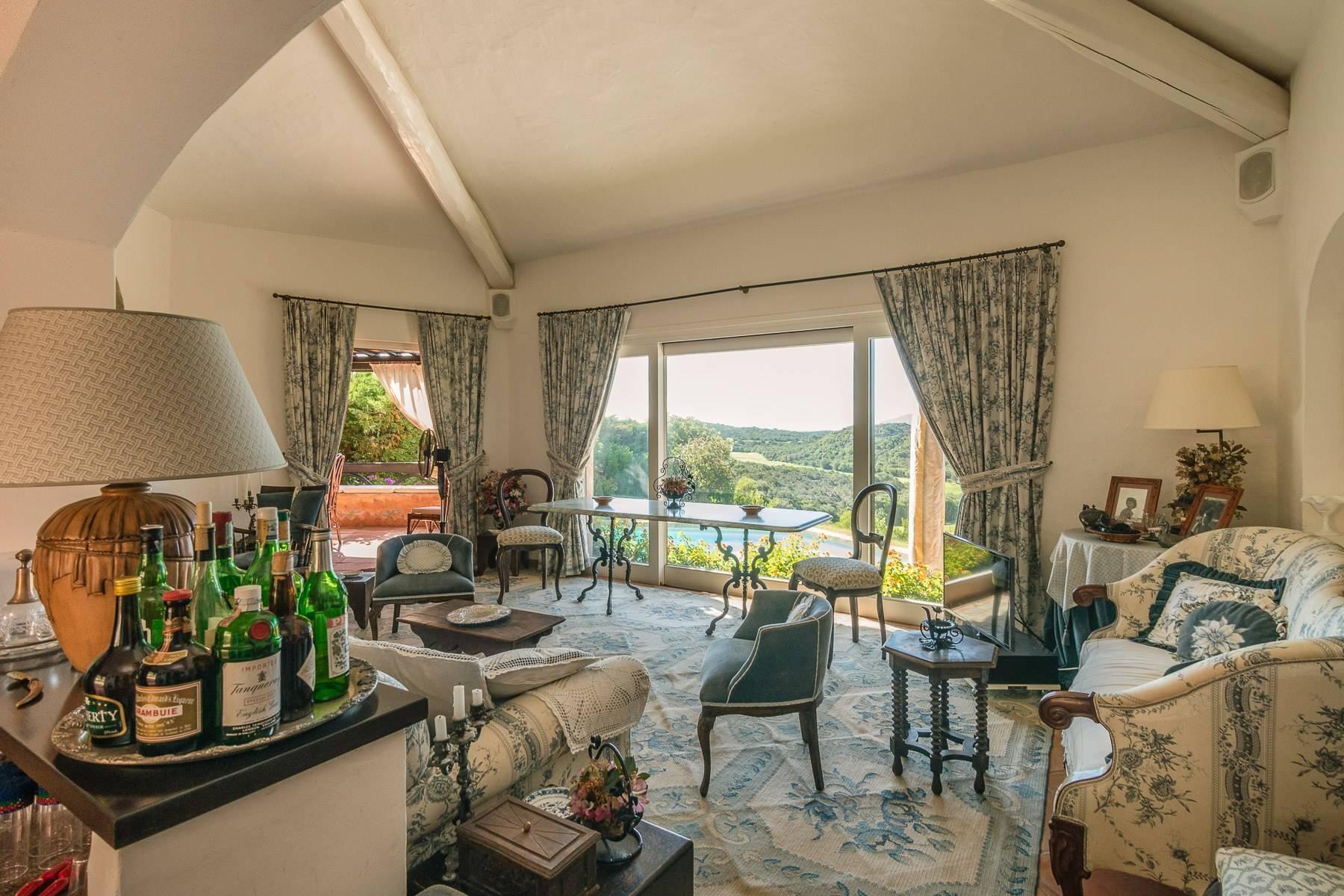 Panoramica villa indipendente con vista mare nella collina del Pevero Golf - 7