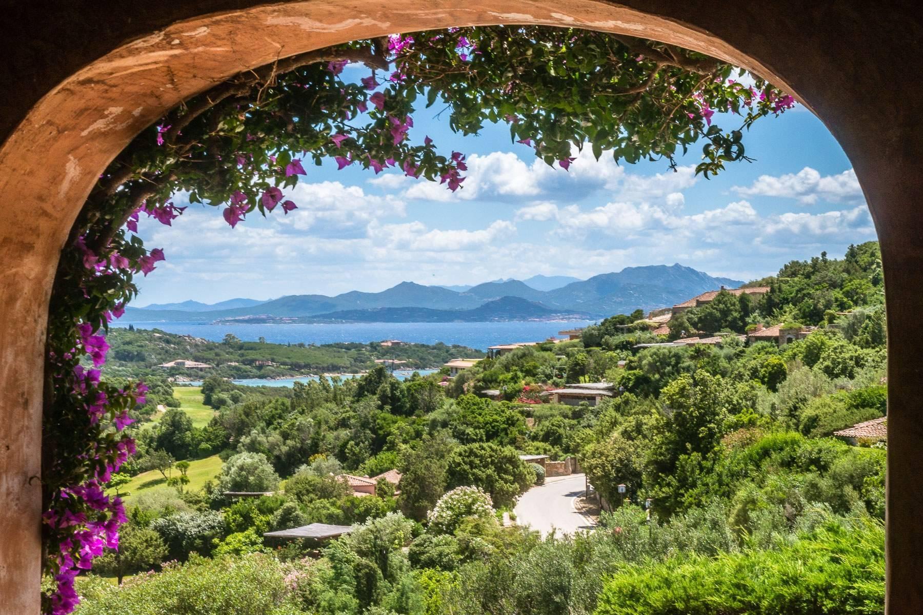 Panoramica villa indipendente con vista mare nella collina del Pevero Golf - 24
