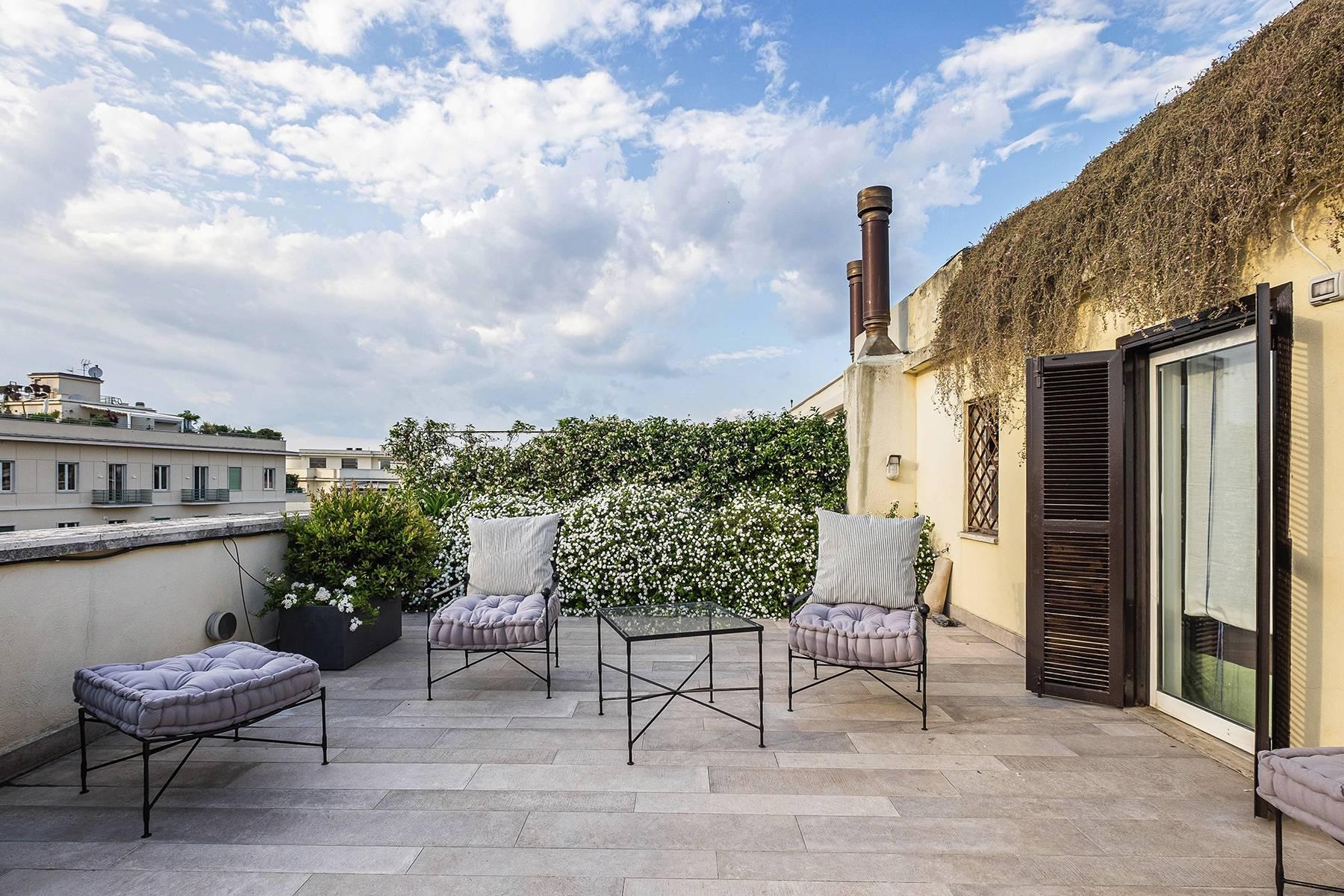 Moderno attico con splendida terrazza di 70 mq  a due passi da Villa Borghese - 11
