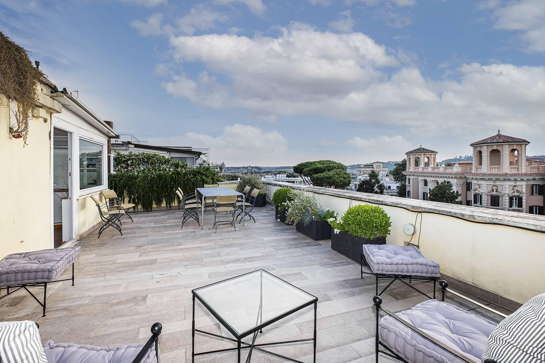 Moderno attico con splendida terrazza di 70 mq  a due passi da Villa Borghese - 10